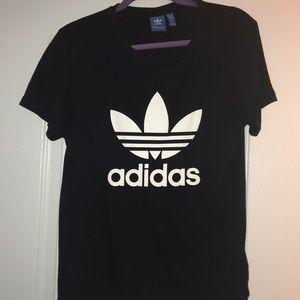 Adidas black and white shirt